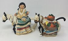 Vintage Friends Of The Feather Sugar & Creamer Native American Indian