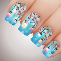 Cherry Egg Blossom Easter Nail Art Water Decal Transfer Sticker Tattoo