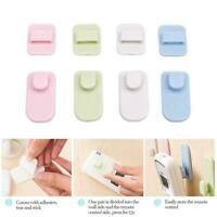 4Pcs Plastic Sticky Hook Set Remote Control Practical Wall Storage Hanger