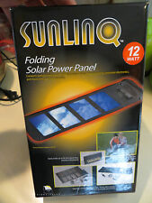 Sunlinq Folding Solar Battery Charger 12 watt 12V-Flexible and Portable