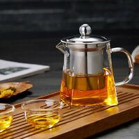 350ml Heat Resistant Glass Teapot with Strainer Filter Infuser Glass Tea Pot set