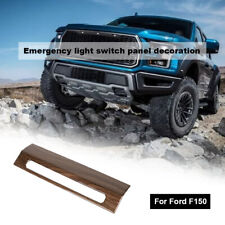 Emergency Warning Light Control Switch Cover Trim For Ford F150 15+ Wood grain