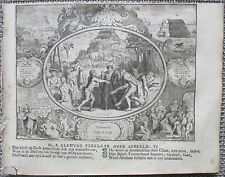 R. de Hooghe Original Bible Engraving Noa Flood Ark Ham - 1721
