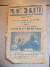 Partitura Pobre Chiquito! Manual del Munte Maurice y Georges Trognee
