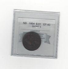 **1864**, Coin Mart Graded New Brunswick, One Cent, **EF-40**Short 6