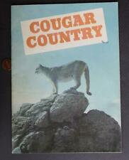 1970 Cougar Country Western Usa pictorial booklet-Big Cats-Elk-Moose-Sheep-Owls !