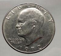 1972  President Eisenhower Apollo 11 Moon Landing Dollar USA Coin Denver  i46168