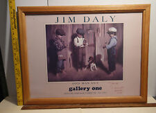 Odd Man Out 10/1991 Jim Daly fine art poster hand sign Mentor Ohio Gallery One