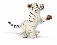 Schleich 14385 White Tiger Cub Playing Wild Animal Toy Model - NIP