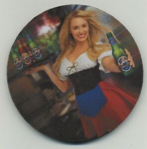 Sexy St Pauli BEER COASTER - Blonde German Bar maid - European Bier