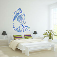 Wall Decal Mermaid Girl Fish Tail Sea Ocean Story Mural Bedroom decor M1006