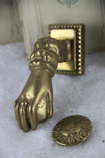 French bronze Door knocker hand 1950's gothic