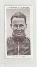 Vintage 1939 Motorcycle Racing Card of KENNETH BILLS Manx Grand Prix