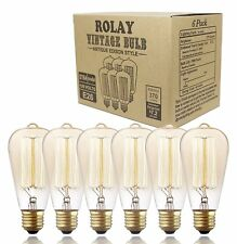 Vintage Edison Bulbs, Rolay 60w Dimmable Industrial Pendant Filament Light Bulbs