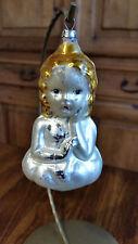 Antique Glass Raphael Angel Bust Christmas Tree Ornament