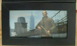 New Rare Grand Theft Auto Poster Framed 7 x 11 1/2