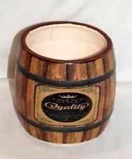 New Vintage Wine Barrel Look Ceramic Pen Holder / Planter Pot / Candy Dish
