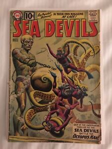 Sea Devils # 1 VG- 1961 1st Sea Devils in Own Title Ket Issue DC