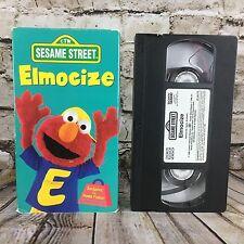 Sesame Street Elmo's Elmocize VHS Cassette Tape Free S/H