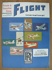 FLIGHT INTERNATIONAL MARCH 19th 1964 PRIVATE & EXECUTIVE FLYING SPECIAL FEATURE