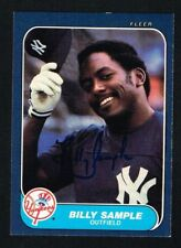 Billy Sample #118 signed autograph auto 1986 Fleer Baseball Trading Card
