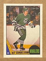 1987-88 O-Pee-Chee OPC #23 Ulf Samuelsson RC Rookie card Whalers