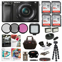 Sony Alpha a6000 24.3MP Mirrorless Digital Camera w/ 16-50mm Lens and  Bundle