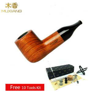 Portable Tobacco Pipe Short Stem Small Pocket Smoking Pipe 3mm Filters 10 Tools
