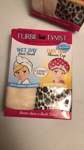 The Original Turbie Twist Super-Absorbant Hair Towel Wet & Dry Day Combo DELUXE