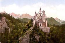 Neuschwanstein Castle Art Poster Germany Mini Poster 11inx17in (28cm x43cm)