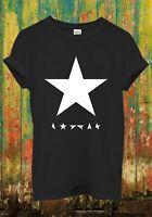 David Bowie Blackstar Album Cover Cool Retro Men Women Top Unisex T Shirt 79