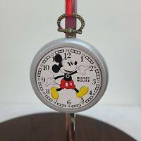 Vintage Walt Disney Wooden Christmas Ornaments Mickey Mouse Pocket Watch Clock