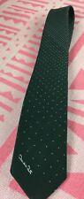 Oscar de la Renta Necktie Green with Graduated White dots Vintage