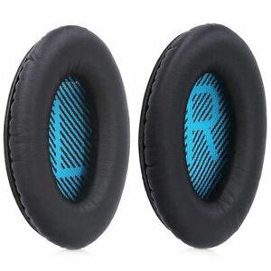 Ear Pads for Bose QuietComfort QC2 QC15 QC25 QC35 AE2 AE2i AE2 (Black - Blue)