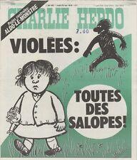 """""""CHARLIE HEBDO N°392 du 18/5/1978"""" WOLINSKI : VIOLEES """"TOUTES DES SALOPES !"""""""