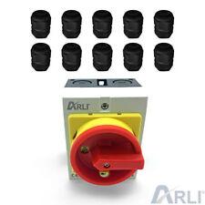 ARLI Hauptschalter 16A 4-polig Schwarz 1100