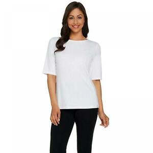 NWT Susan Graver Essentials Butterknit Elbow Sleeve Top. A215099