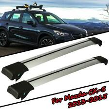 Aluminum Roof Rack Cross Bar Cargo Carrier Anti-theft For Mazda CX-5 2013-2015