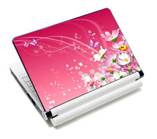 """Pink Floral Laptop Sticker Decal Skin Cover Protector For 14"""" 15"""" 15.6"""" Notebook"""