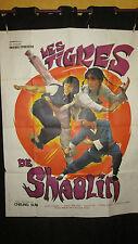 RARE Affiche Cinéma original Les Tigres de Shaolin John Chang Yang Pan Pan 1980