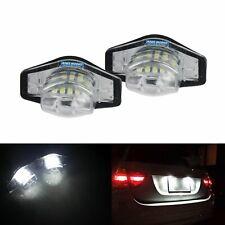 1 Pair Honda LED License Number Plate Light Lamp Bulb Jazz Insight Stream Canbus