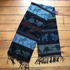 Wool Blend Safari Animal Design Scarf Shawl