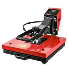 Red 15x15 Heat Press Machine Digital Transfer Sublimation Kit For T Shirts