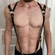 Men PU Leather Top Body Harness Bondage Suspenders Belts Armor Braces Costumes