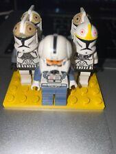 LEGO Star Wars Minifigures Clone Wars Lot of 5 Clone Trooper Pilot & Commander