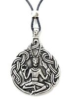 Cernunnos Necklace Pagan God Herne the Hunter Pendant Pewter & Beaded Cord