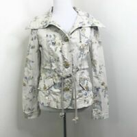 Anthropologie Daughters of the Liberation Lyonia Cream Floral Jacket Size 00
