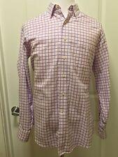 Tommy Bahama Long Sleeve (16 34-35) Nice Pink  Plaid Shirt