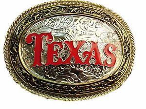Big Texas Belt Buckle Western Rodeo Costume Metal Fashion New Men Officer Badge