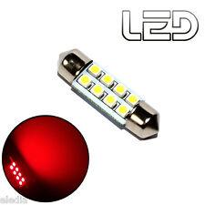 1 Ampoule navette c5w 36 mm 36mm 8 LED ROUGE Habitacle Plafonnier coffre boite